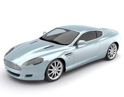 Aston Martin DB9 luxury sports coupe 3D model