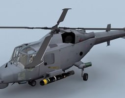 lynx wildcat aw159 royal navy helicopter 3d model low-poly max 3ds fbx c4d