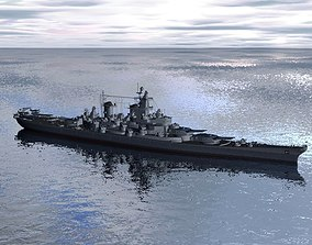 3D model Battleship Missouri US Navy ship