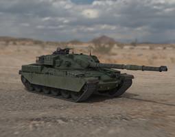 Chieftain British Army Tank 3D Model