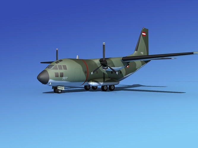 alenia c-27a spartan austria 3d model max obj mtl 3ds lwo lw lws dxf stl 1