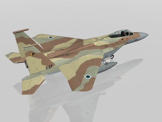 f-15c eagle israeli air force military aircraft 3d model max obj mtl 3ds fbx lwo lw lws 1