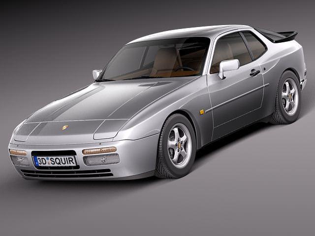 porsche 944 1982-1991 3d model max obj mtl 3ds fbx c4d lwo lw lws 1