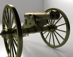 Double Barreled Cannon 3D