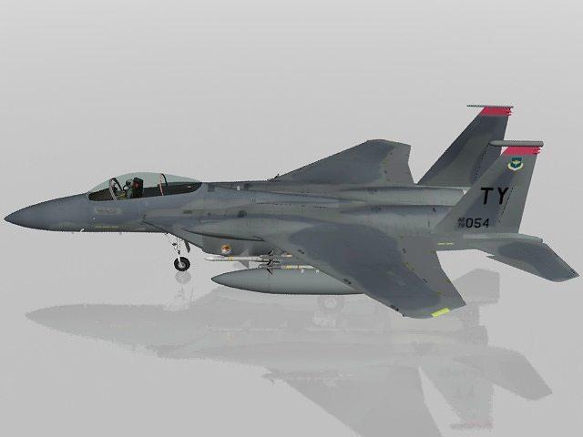 f-15c eagle usaf military aircraft 3d model max obj mtl 3ds fbx lwo lw lws 1