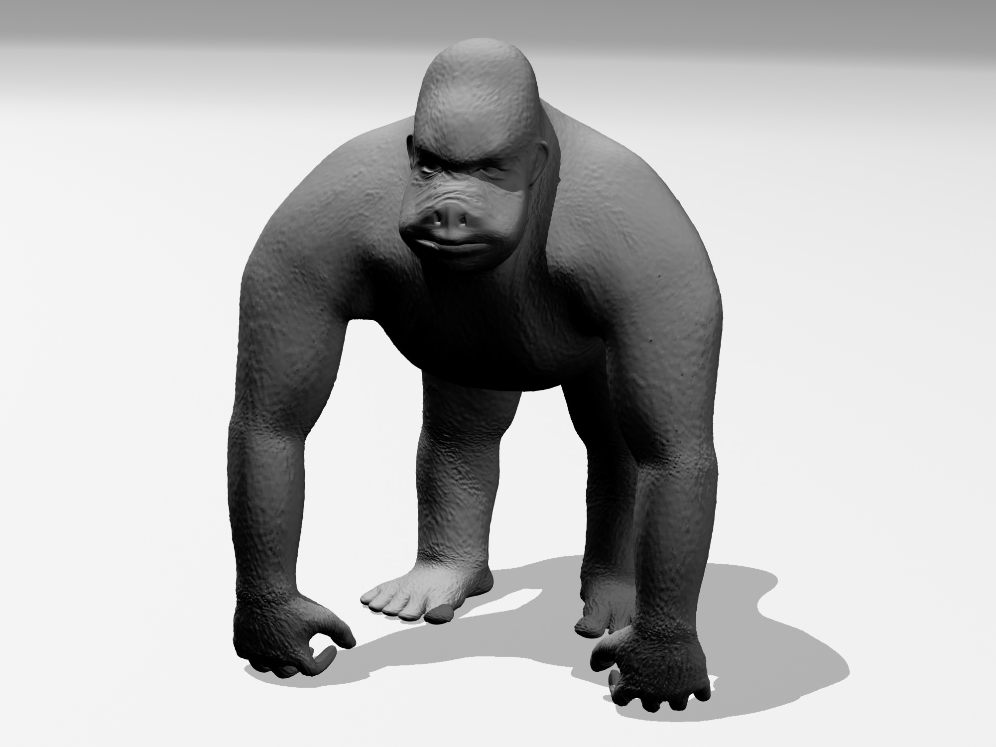 gorilla 3d printable model cgtrader