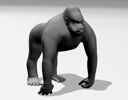3d printable model gorilla