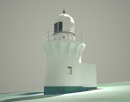 3D Ballina Lighthouse Low Poly