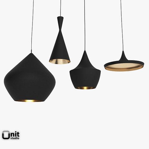 3d model beat light set by tom dixon cgtrader. Black Bedroom Furniture Sets. Home Design Ideas