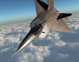3D model YF 22 Lightning II Poser Vue