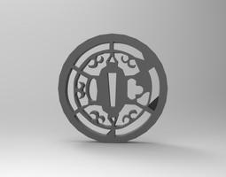 tsuba 3D printable model