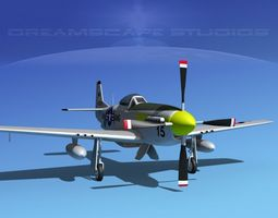 F-51D Mustang Ohio ANG 3D model