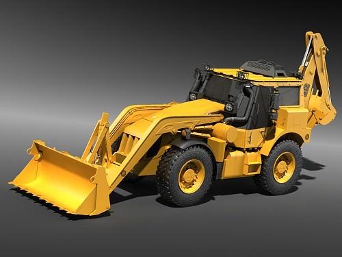 j c b extractor excavator 3d model max 3ds 1