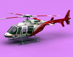 bell 407 canadian ministry of transport  3d model max lwo lw lws ma mb