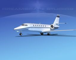 3D Cessna 680 Citation Sovereign V03