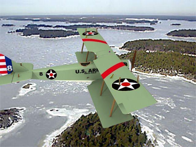 curtiss jn-2 jenny us army 3d model animated max obj mtl 3ds lwo lw lws dxf stl 1