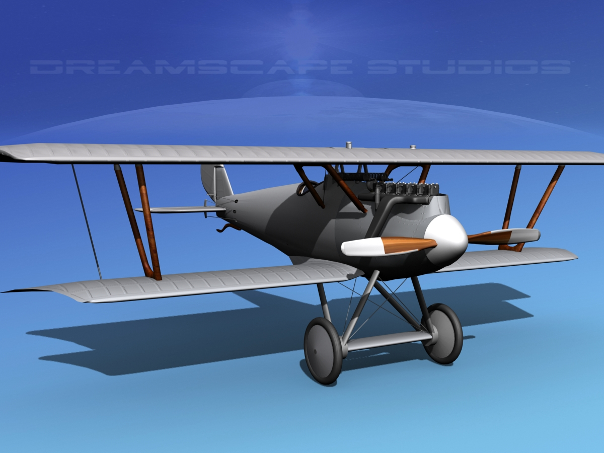 pfalz diii fighter bare metal 3d model rigged max obj 3ds. Black Bedroom Furniture Sets. Home Design Ideas