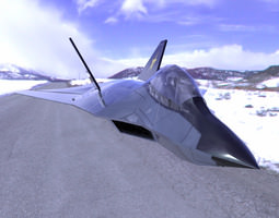 3D F-24A Tomcat 2 for Poser and Vue