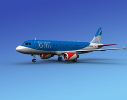 Airbus A320 British BMI 3D model