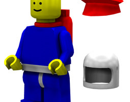 3D Modular Brick Figure Poser