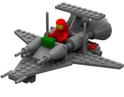 3d modular brick mini spaceship 3 poser rigged