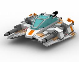 Modular Brick Snowspeeder Poser 3D model