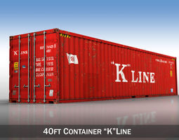 harbour 40ft Shipping Container - K Line 3D