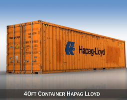 40ft shipping container - hapag lloyd 3d