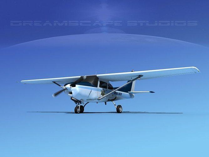 cessna 172rg cutlass v12 3d model animated max obj 3ds lwo lw lws dxf dwg 1