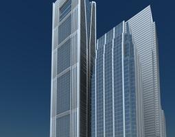 Skyscraper 3D model tall
