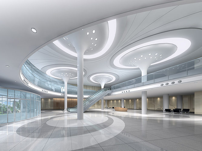 office hall 3d model max 1