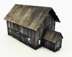 3D asset Barn with interior