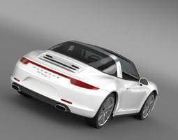 3D Porsche 911 Targa 4 2014