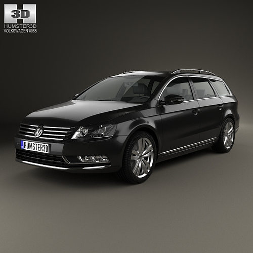 3d model volkswagen passat b7 variant 2011 cgtrader. Black Bedroom Furniture Sets. Home Design Ideas