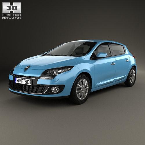 Renault Hatchback: 3D Renault Megane 5-door Hatchback 2013
