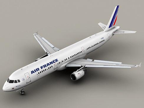airbus a321 air france 3d model max obj mtl 3ds tga 1