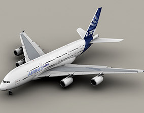 3D model Airbus A380 New House Colors