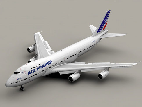 Commercial Vehicle Definition >> Boeing 747-200 Air France 3D | CGTrader