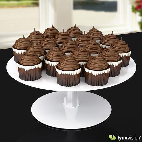 chocolate cupcakes 3d model max obj fbx c4d lwo lw lws lxo lxl 1