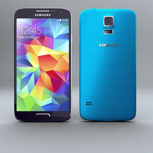 samsung galaxy s5 smartphone 3d model obj 3ds fbx lwo lw lws stl blend 1