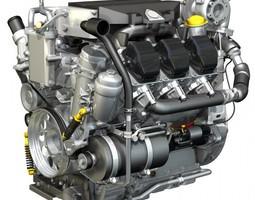 Truck diesel engine 3D Model