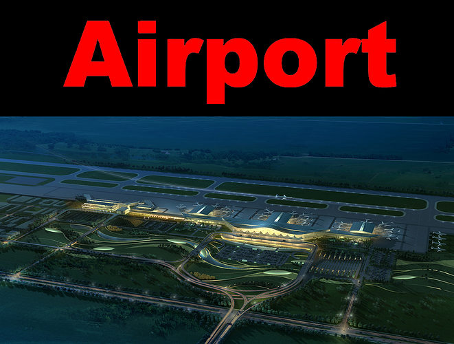 airport with whole infrastructure 3d model max obj 3ds 1