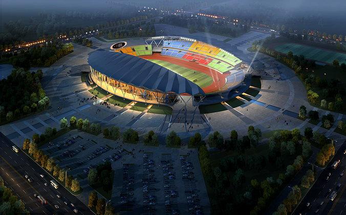 grand stadium 001  olympic size football arena 3d model max obj 3ds fbx 1