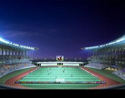 grand stadium 002  soccer arena olympic measurements 3d