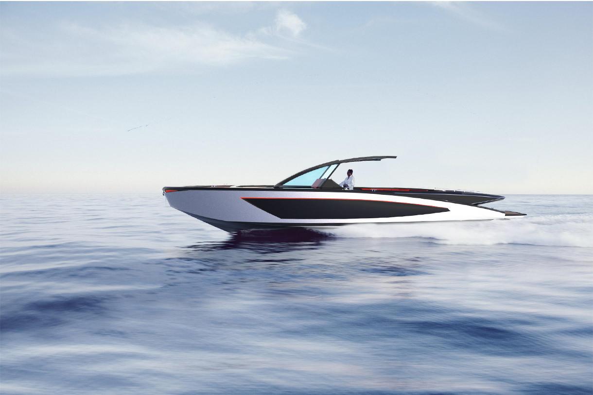 Designed 35 Foot Open Boat