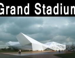 Grand Stadium 011 Building Complex 3D