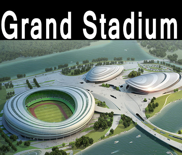 grand stadium 017 arena by the water 3d model max obj 1