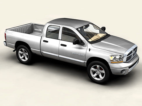 3d model dodge ram 2007 cgtrader. Black Bedroom Furniture Sets. Home Design Ideas