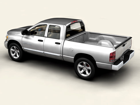 dodge ram 2007 3d model max obj 3ds mtl tga. Black Bedroom Furniture Sets. Home Design Ideas