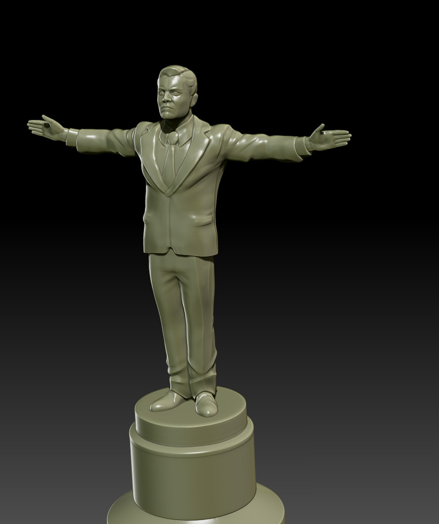 3d Printer For Sale >> Leonardo Award Figurine free 3D Model 3D printable OBJ STL | CGTrader.com